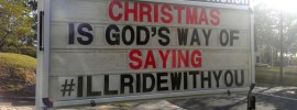 "For Fr Rod Bower (@FrBower) Christmas is the ""G"" word, the Universal More, whispering '#illridewithyou'."