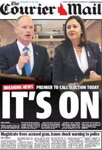 06/01/15 The Courier Mail  - It's On