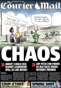04/02/15 The Courier Mail - Chaos - LNP Pitch For Power as Qld Faces Weeks Without Premier