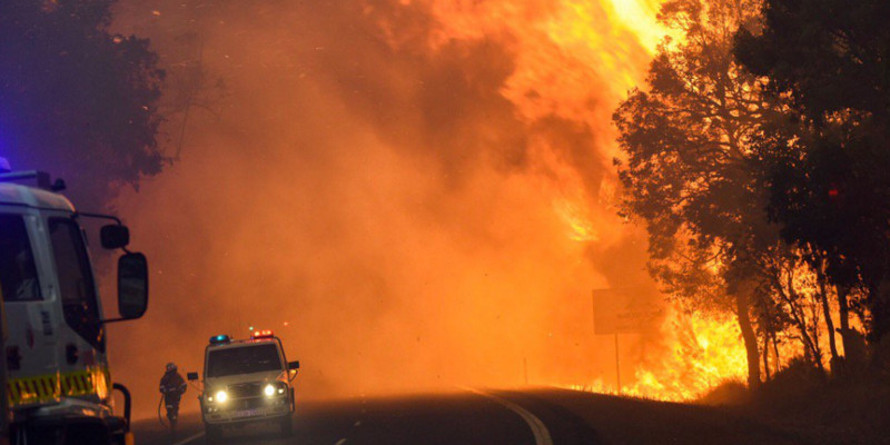 Waroona Fire Photo courtesy @dfes_wa via twitter