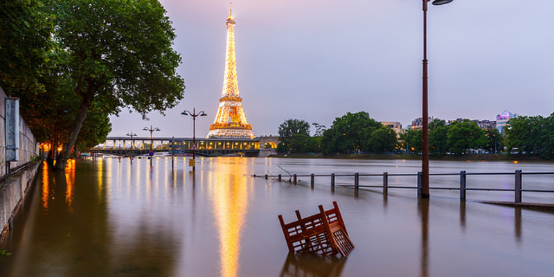 River Seine in Paris flooding May 2016 by Loïc Lagarde/Flickr. Creative Commons (CC BY-NC-ND 2.0)