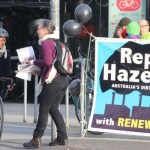Climate Action Moreland members campaigning for Hazelwood closure