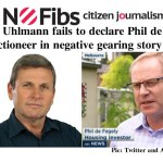 Chris Uhlmann fails to declare Phil de Fegely as auctioneer – @Qldaah #Mediawatch #auspol