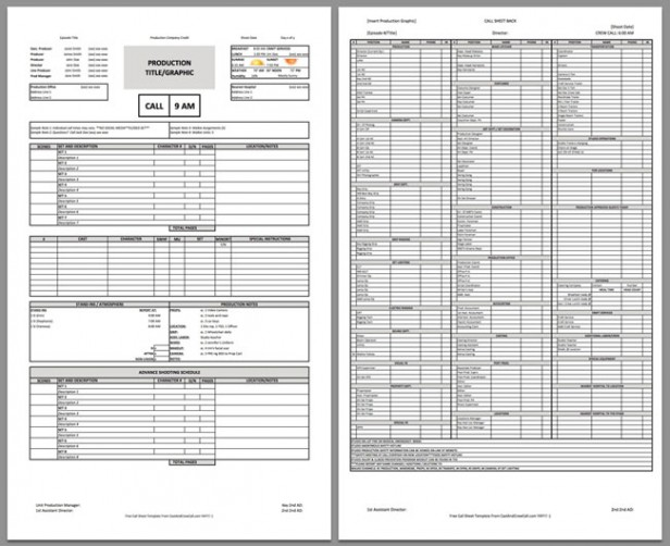 Download a FREE Film Call Sheet Template and Stay On Schedule