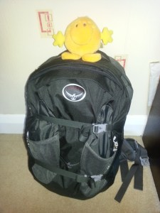 Osprey Farpoint 40 Litre bag with Mr Happy