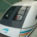 Flying – sort of…..Shanghai's Maglev train
