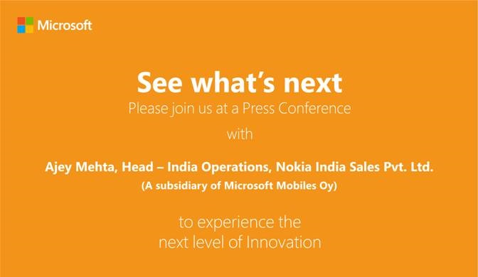 Mark the Date Microsoft sends invitation for 1st October event in
