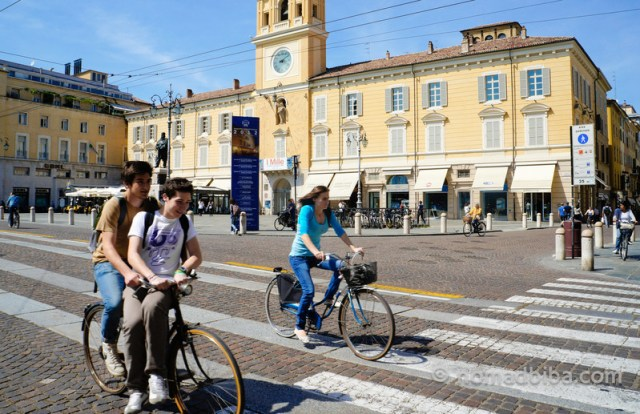 Cycling in Parma