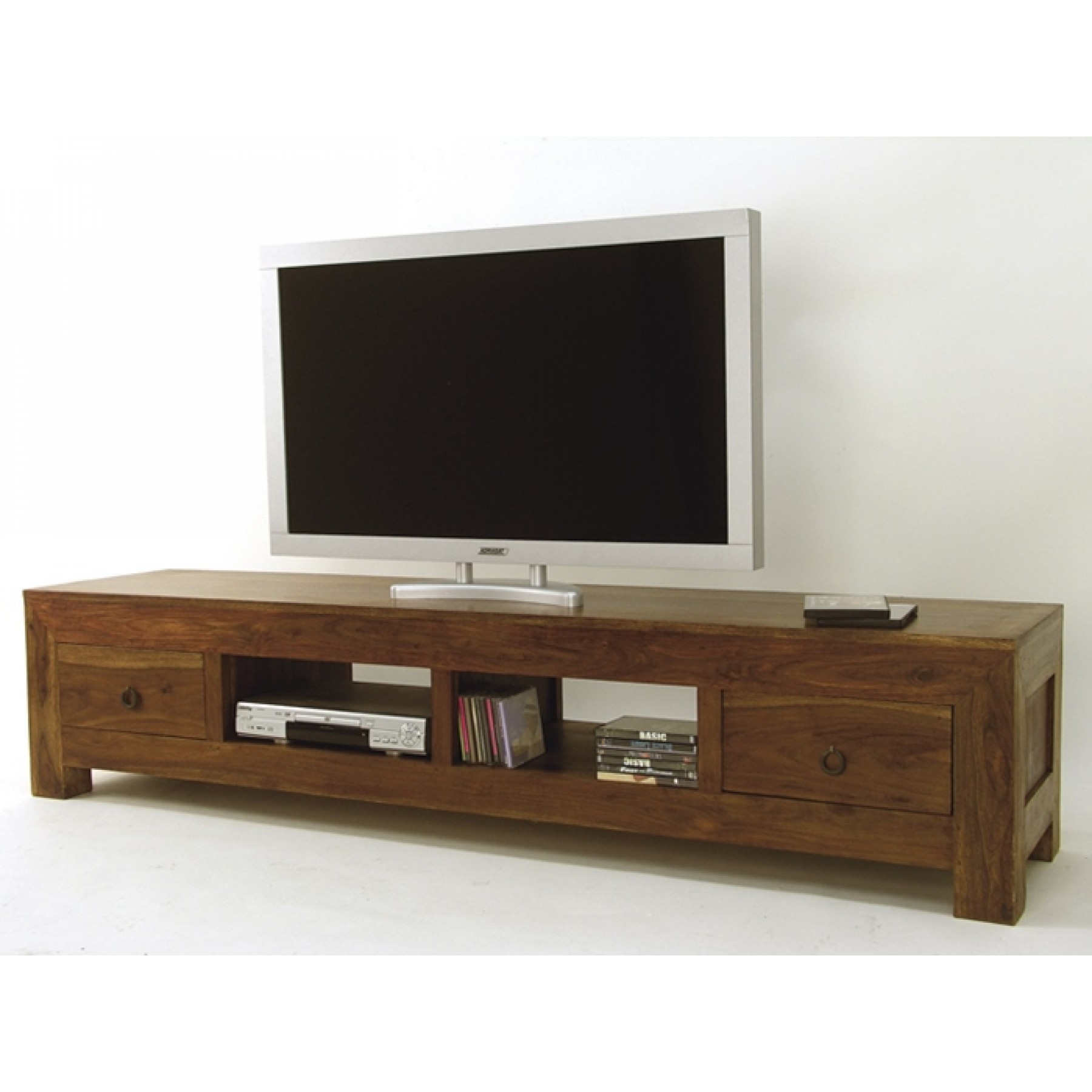 Meuble Tv Classique Chic Meuble Tv Long 2 Tiroirs 2 Niches Hindi
