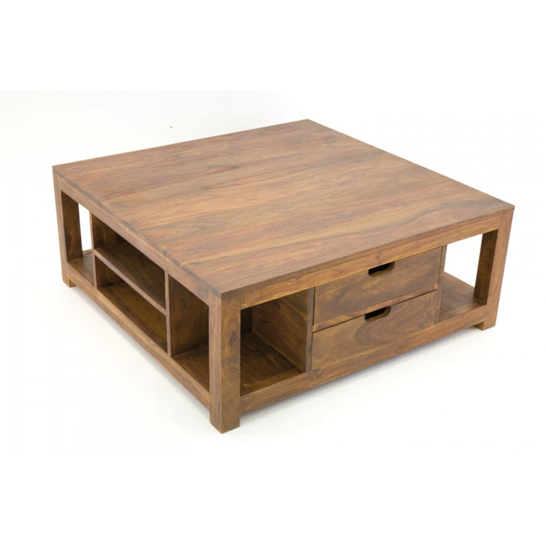 Recherche Table De Salon Table Basse Carrée Multiples Niches 2 Tiroirs