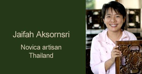 Jaifah Aksornsri Novica.com Artisan from Thailand