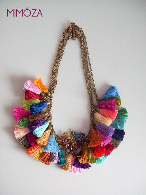 Mimoza Etsy Shop Tassel Necklace