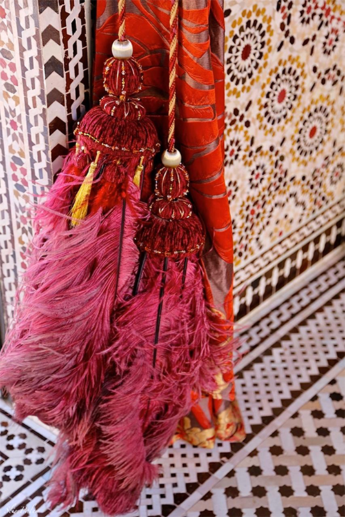 Tassels at the Royal Mansour by Slim Paley