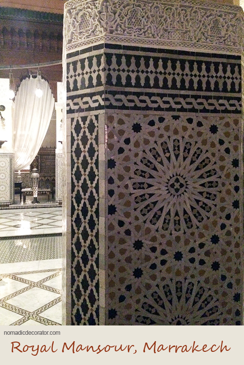 Patterns at Royal Mansour in Marrakech