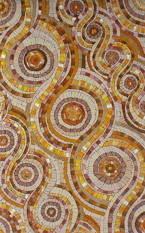 Ganges Karma mosaic tile from Mosaic Art