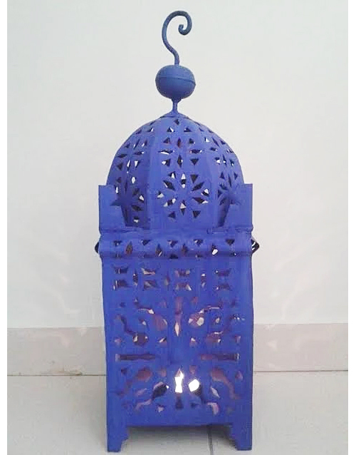 Majorelle Blue Lanterns from MoroCrafts