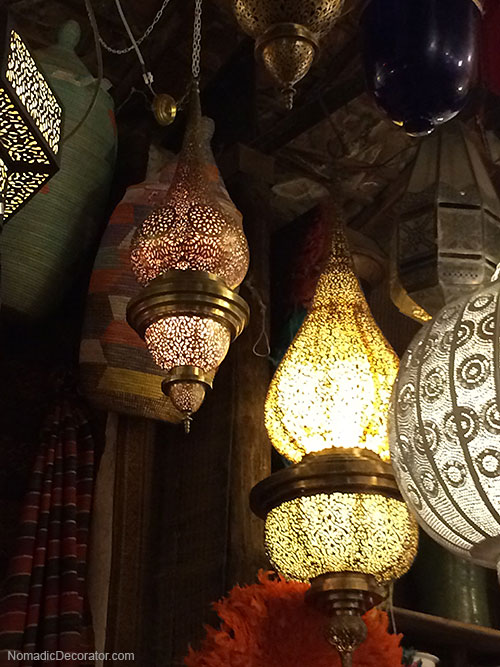 Pierced Metal Moroccan Lanterns at Mustapha Blaoui Shop