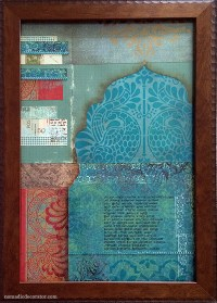 How to Make a Scrapbook Paper Collage | Nomadic Decorator