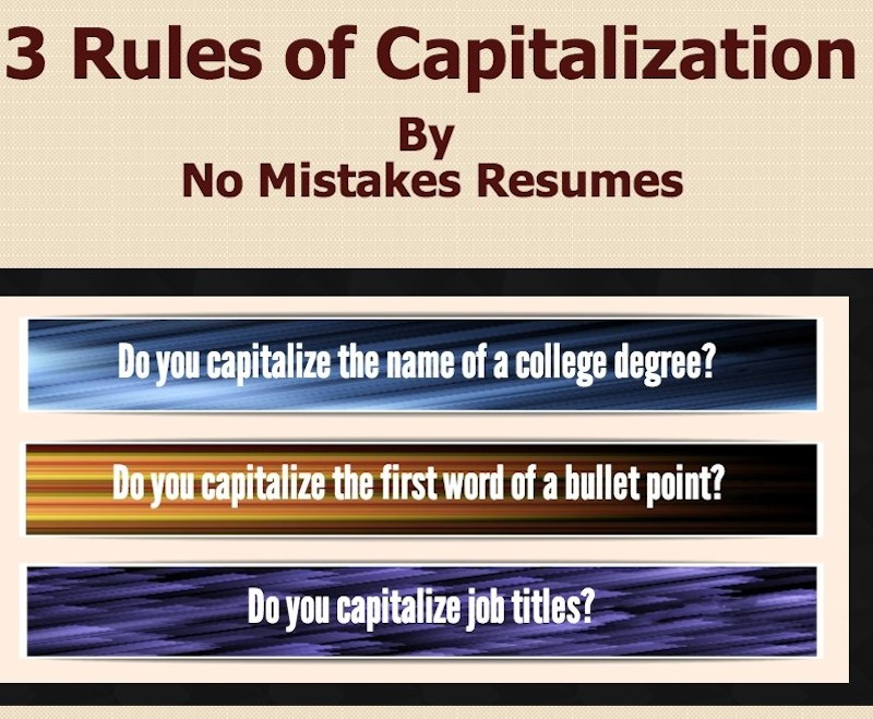 3 Rules For Capitalization on Resumes - Giacomo Giammatteo - resume job titles