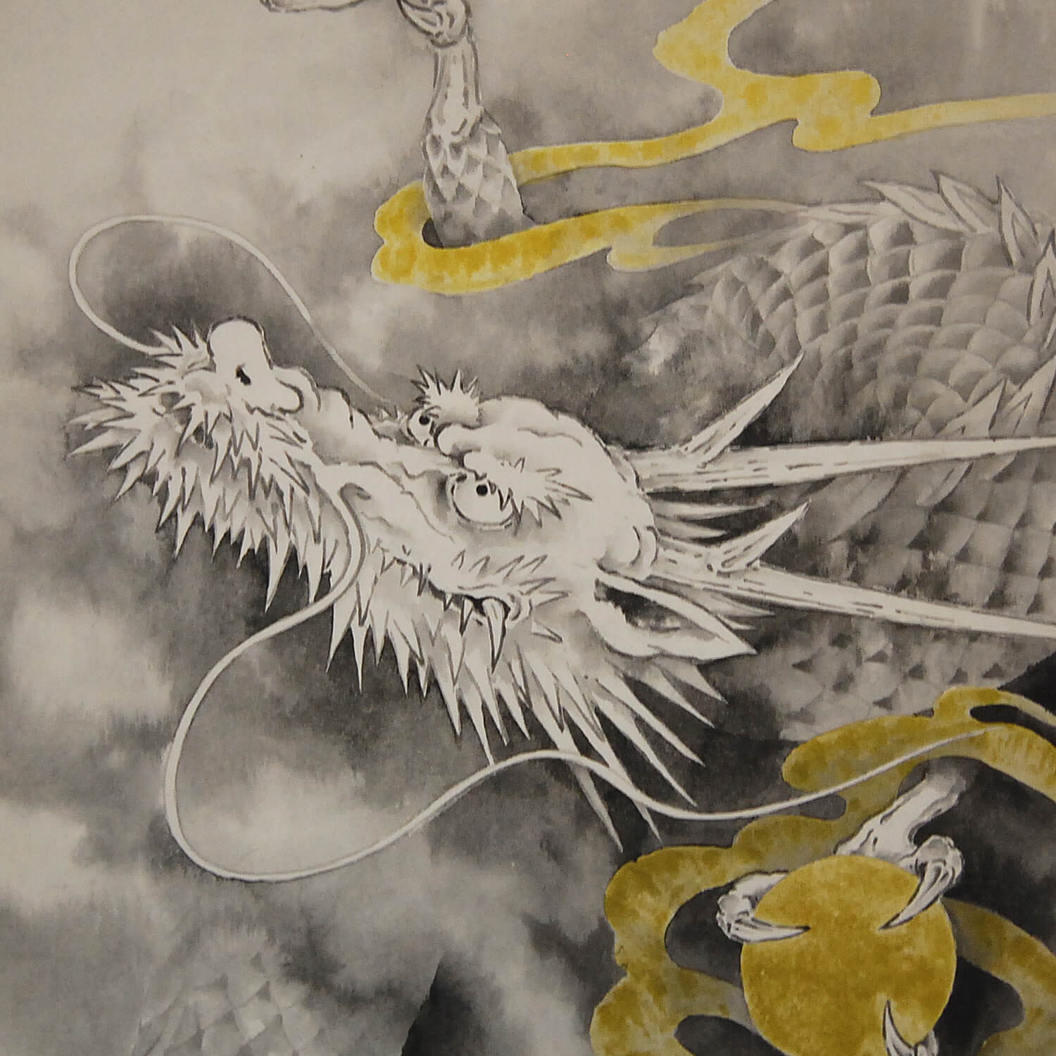 Japanese dragon painting ikkei shimada kakejiku scroll for Japanese dragon painting