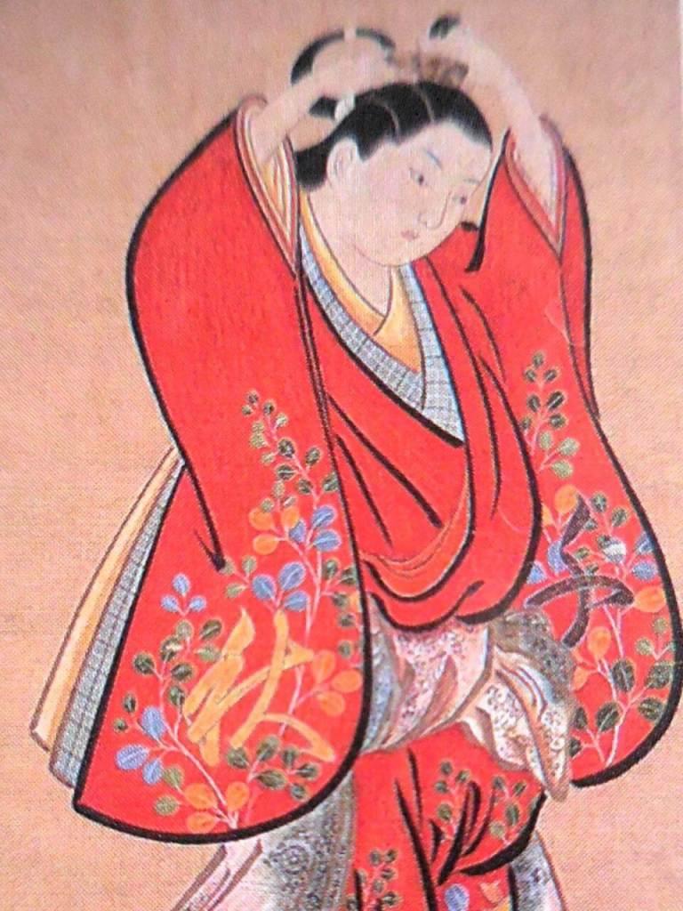 Artist: Kiyonobu Torii / Title Beautiful Woman Setting Her Hair
