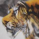 0153 Tiger in Snow Painting / Gyokuhou Horie 004
