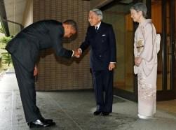 Obama and Akihito bowing mishap
