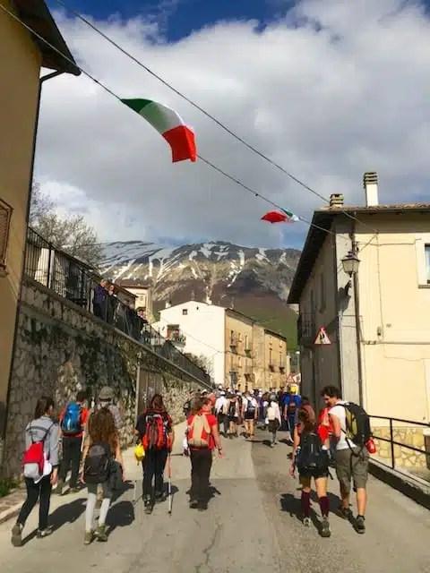 Arrivo a Campo di Giove, Abruzzo