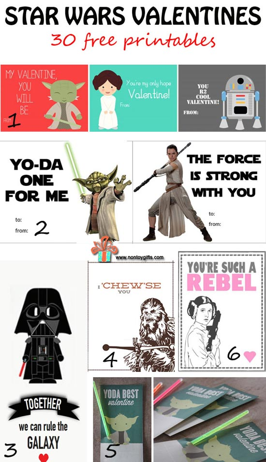 Star Wars Valentines {30 free printables} - Non Toy Gifts