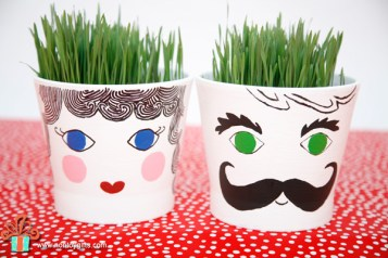 Grass Head Pots