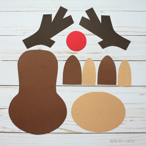 Paper Reindeer Craft With Printable Template - Christmas Craft