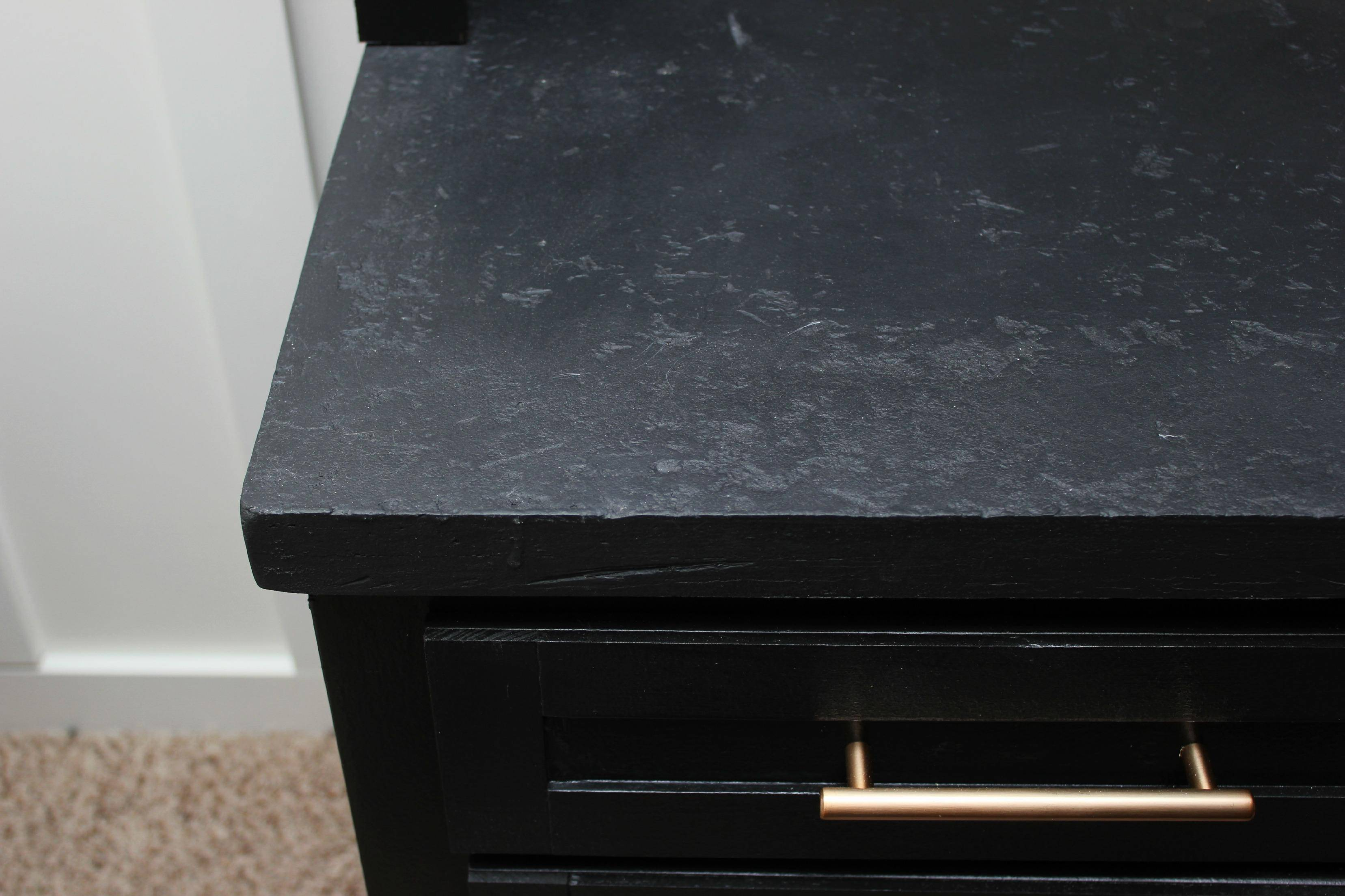 Black Faux Granite Countertops The Diy Designer How To Make Your Laminate Countertop