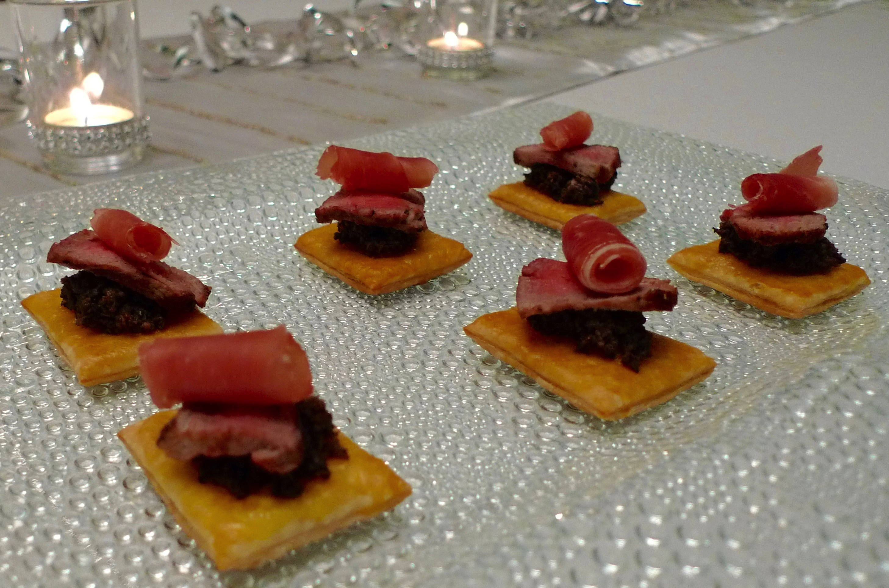 Canape 2016 New Year S Eve Party Beef Wellington Canapés Noon Café