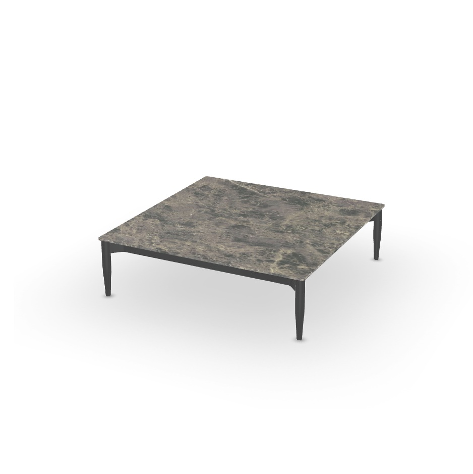 Table Salon Ceramique Table Basse Marguerite Emperador 100x100cm Joli