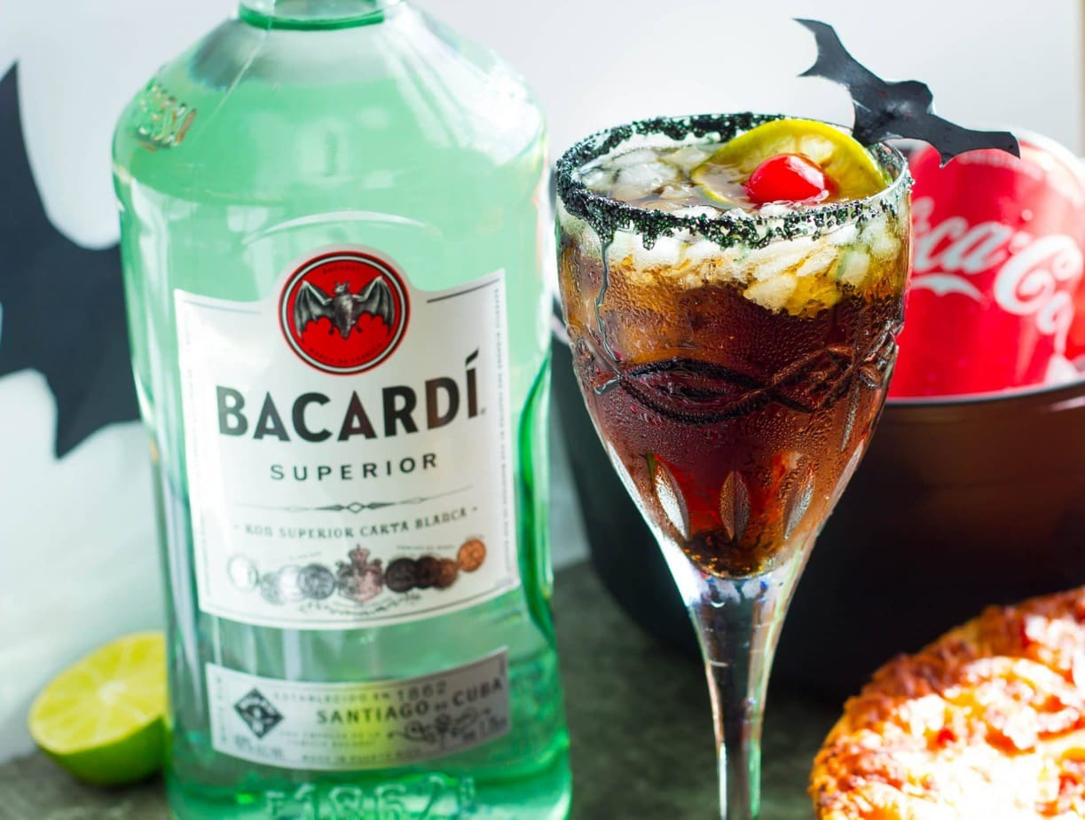Cocktail Halloween BacardÍ Rum And Coke Bat Tears Halloween Cocktail No Plate Like