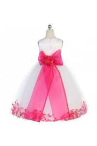 Flowergirl dress with rose petals
