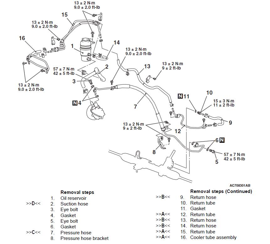 power steering motor diagram