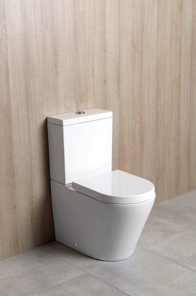 Wc Randlos Stand-wc Boden-wc Modern Eckig Paco Toilette Rimless Soft