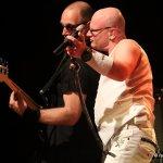 In Aktion: Mike Gerhold und Andreas Gutheil (bass) (Foto: Rainer Sander)