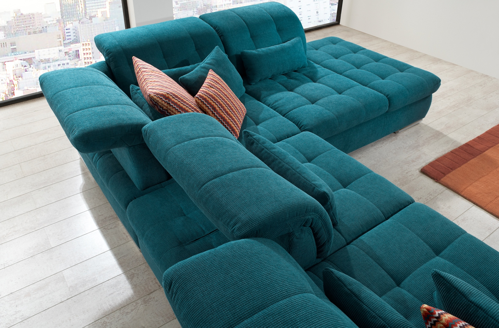 Teal Bed Covers Alpine Sectional Sofa : Sleeper With Storage
