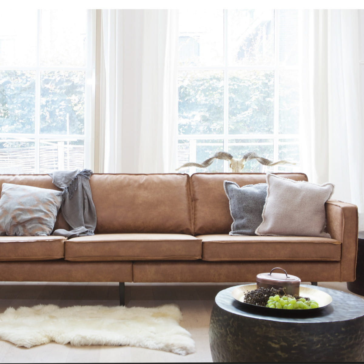 Sofa Rodeo Sofa Rodeo 3 Seater Cognac Be Pure