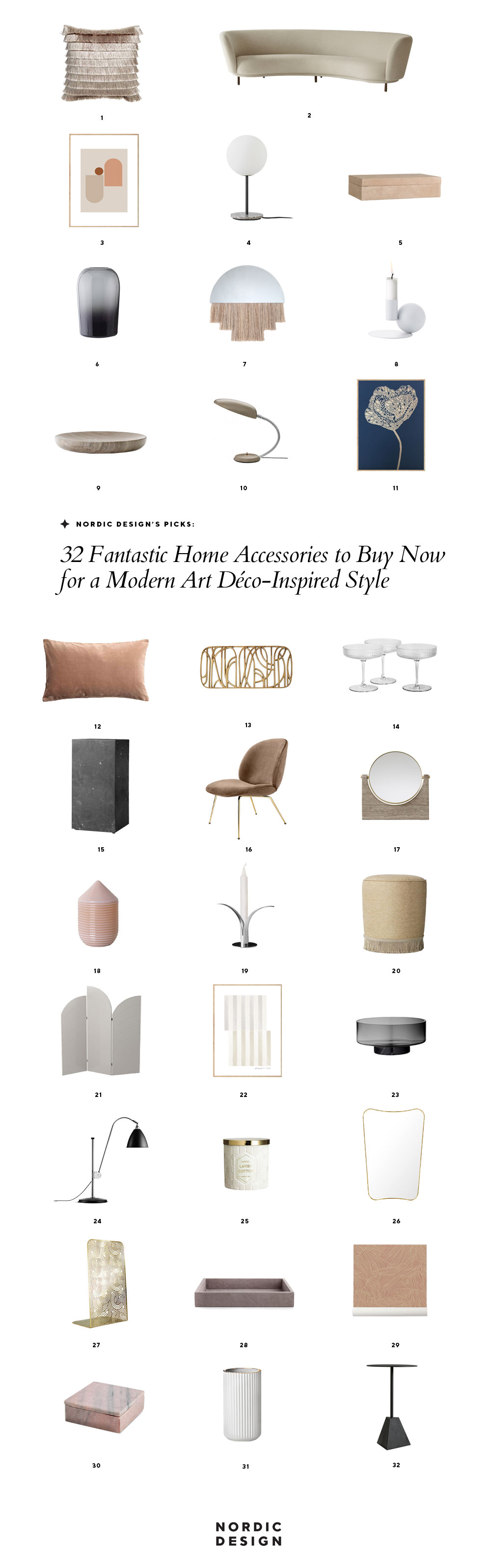 Art Deco Home Accessories 32 Fantastic Home Accessories To Buy Now For A Modern Art Déco