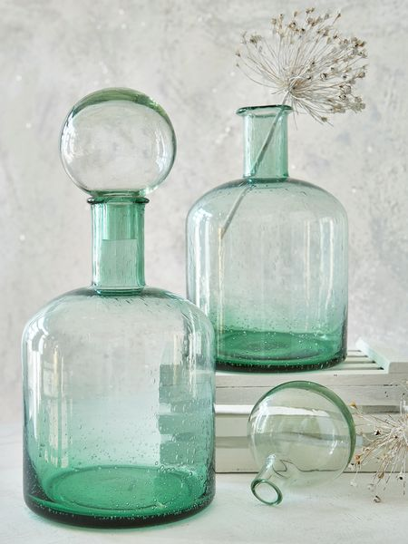 Sheepskin Retro Glass Bottle | Large Glass Bottles | Nordic House