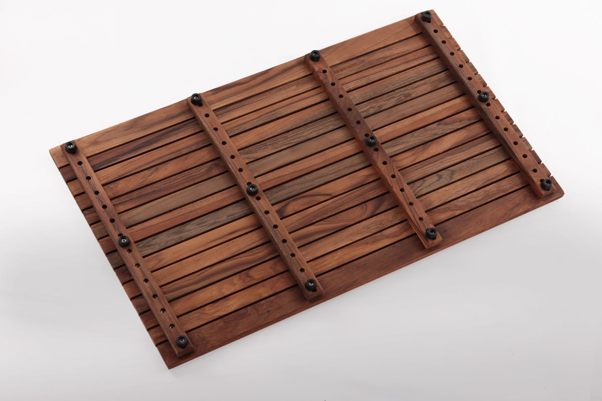 Shower Mat Teak Shower Mat 31 4 X 19 6 In Wide End Slat Nordic