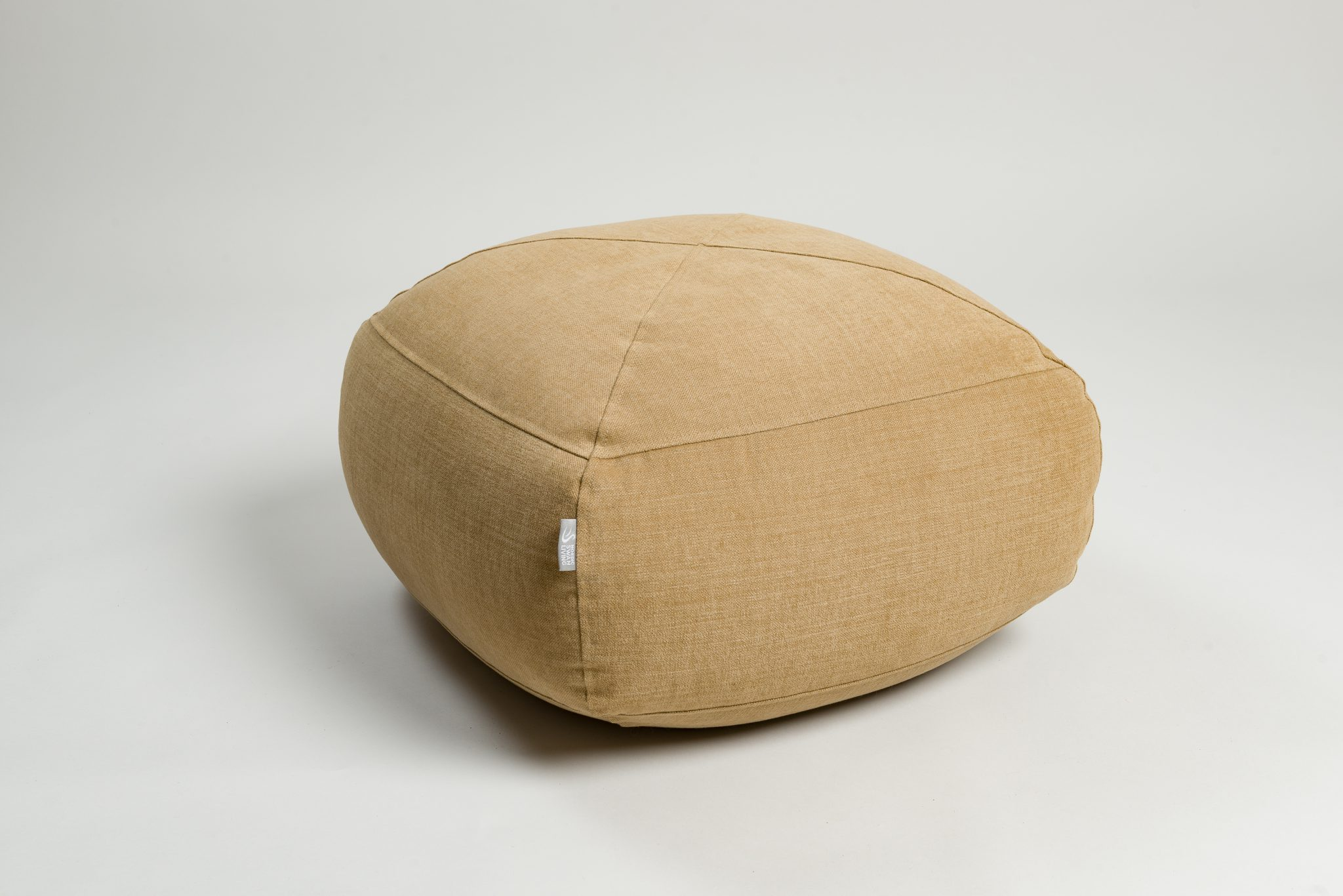 Bean Bag Footstool Syli Cotton Linen Footstool Nordic Swan Living