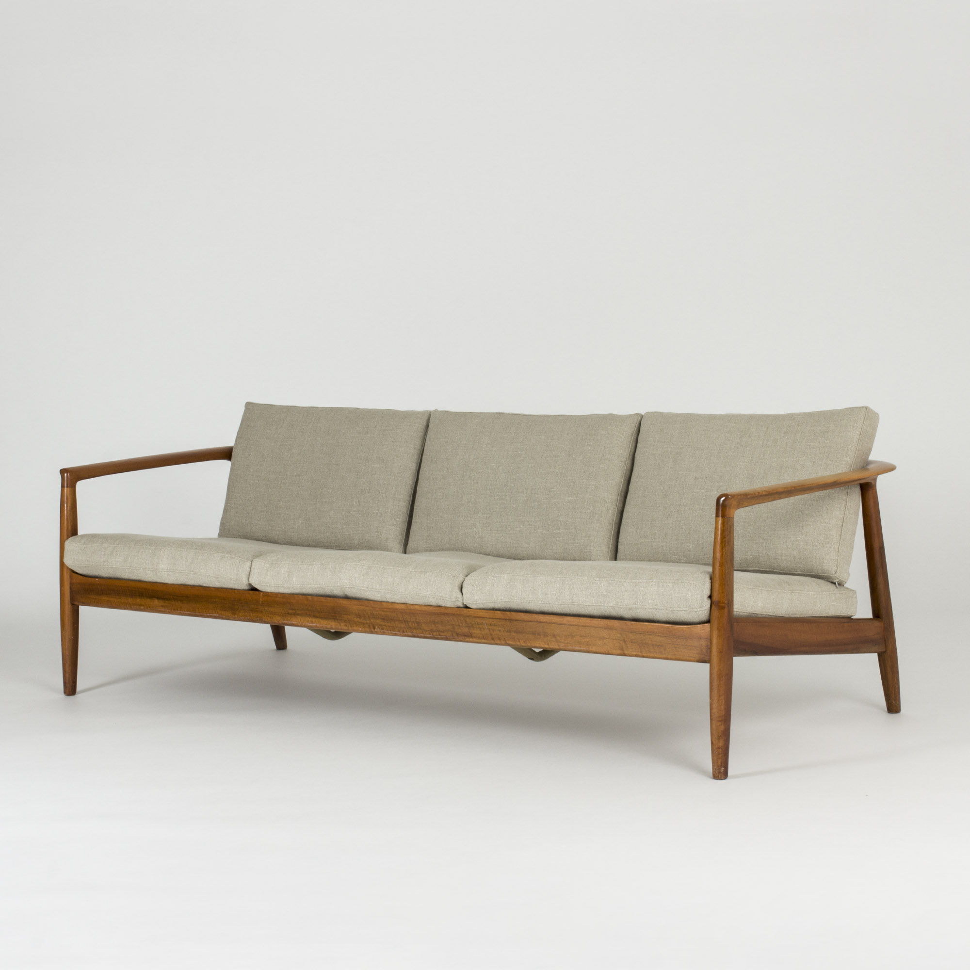 Walnut Sofa By Folke Ohlsson Beautiful Vintage Midcentury Modern Design