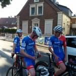 Max, Fiete und Bent vor dem Start in Stadtlohn.
