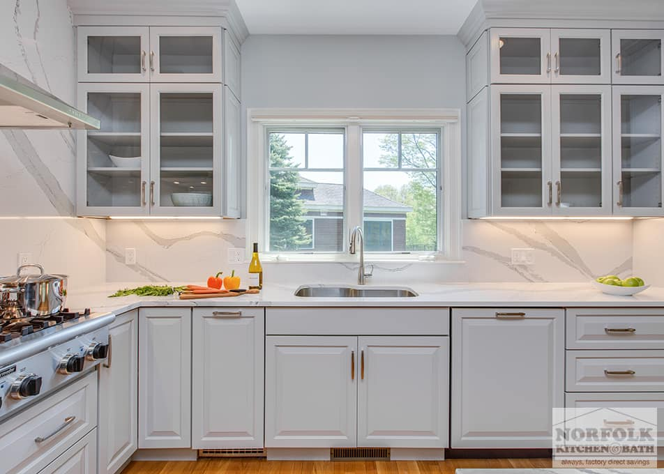 Design Kitchen Layout Cabinets Grey Showplace Kitchen With Full Height Backsplash