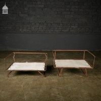 Pair of Small Vintage Folding Dog Beds