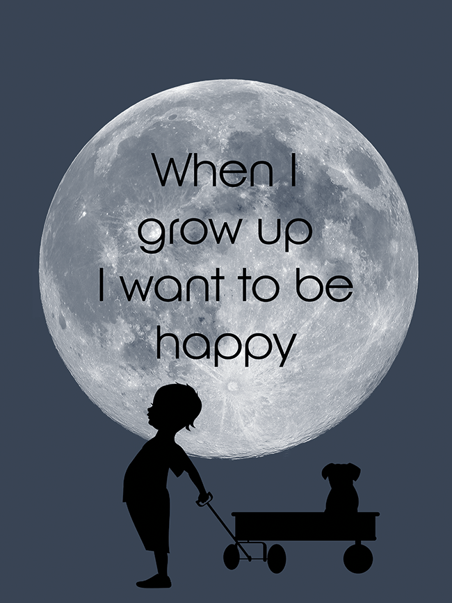 Poster 30x40 When I Grow Up | Norframe